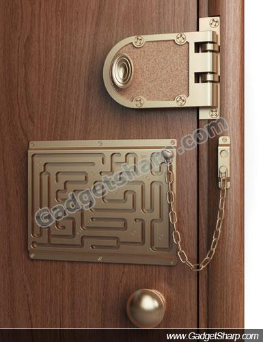 Thief-Proof Home Door Lock-and-Chain Maze