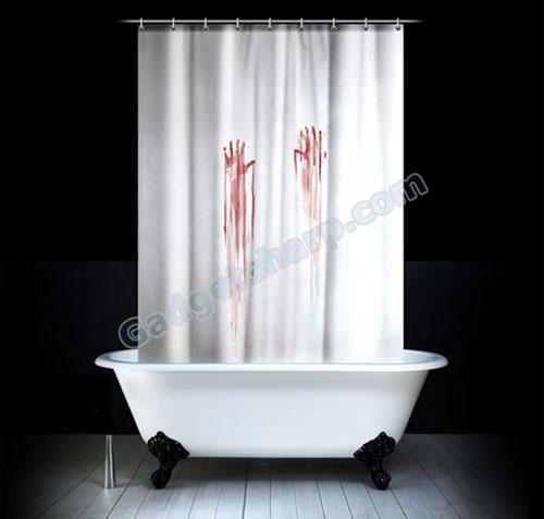 Scary Shadow Shower Curtain Amazon