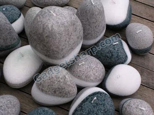 Pebble Stone Candles