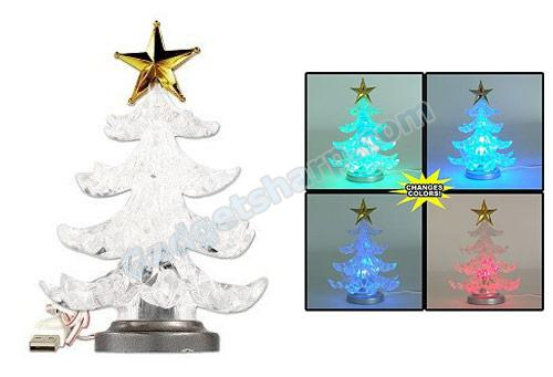 USB Powered Miniature Christmas Tree w/Multicolor LEDs
