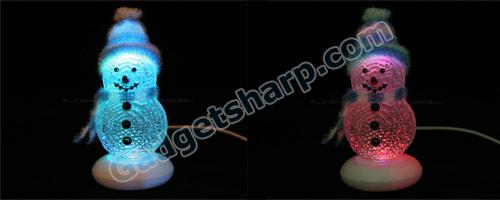 USB Powered 4 Colors Snow Man