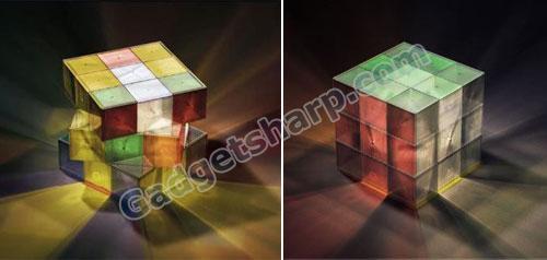 Rubik?s Cube Lamp