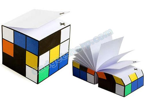 Rubiks Cube Inspired Colorblock Note Cube