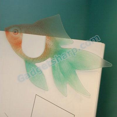 Translucent Gold Fish Bookmark