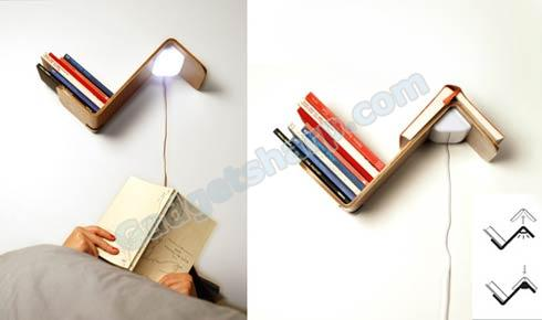 Book Shelf + Reading Lamp + Book Mark