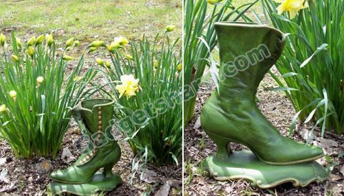Boot Shoe Flower Vase