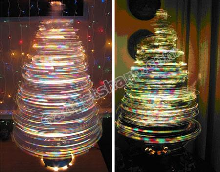Spinning Fiber Optic Tree