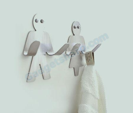 Mr and Mrs Hangup Wall Hooks by Black+Blum