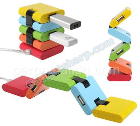 Flexy rainbow USB hub