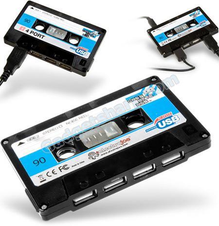 Cassette Tape USB Hub