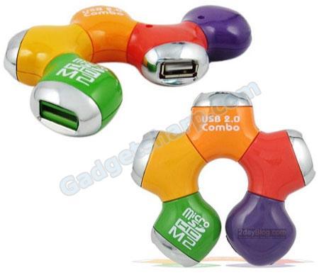 USB Hub with Card Reader