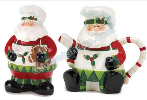 Santa Claus Cookie Jar and Santa Claus Teapot
