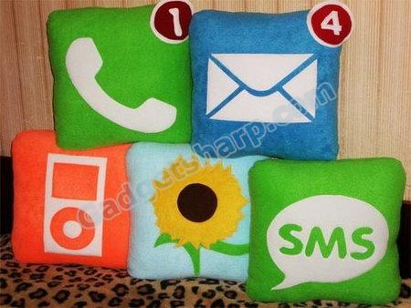 Colorful iPhone icon Pillows