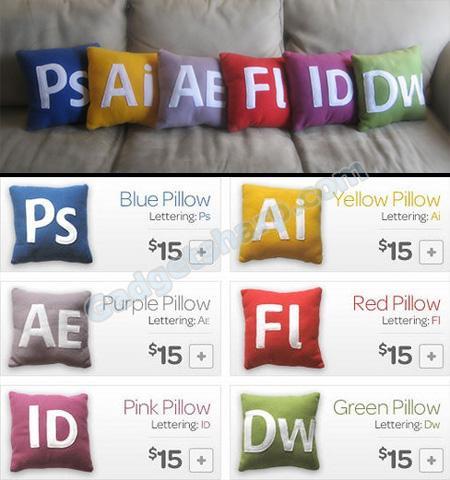 Adobe Icons Pillows