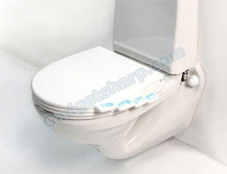 Tag toilet seat