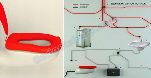 Toilet seat that helps lower down your water consumption