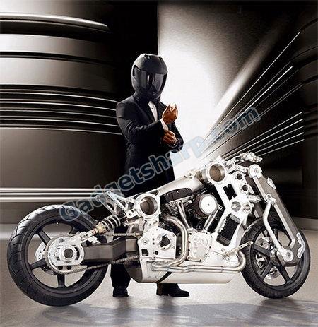 Titanium Fighter Motorcycle