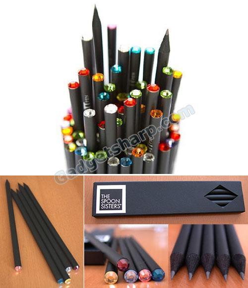 Pencils with Swarovski Crystals