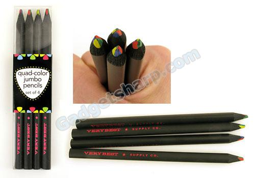 Quad–Colored Jumbo Pencils