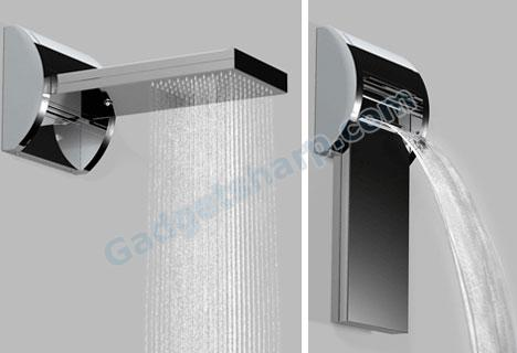 Waterfall Shower becomes Rain Shower in one flip!