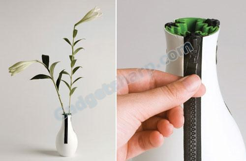 zipper vase