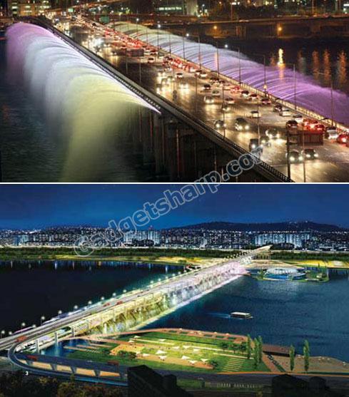 Banpo Fountain Bridge, korea