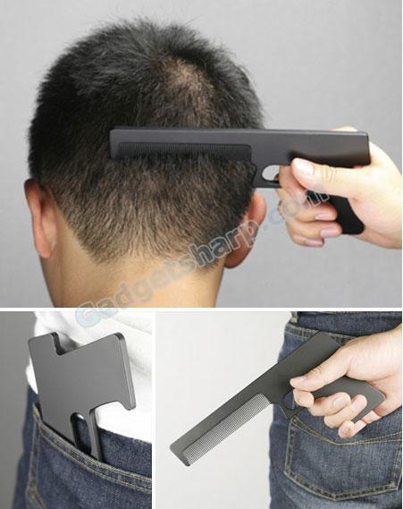 Comb Shaped Like a Gun
