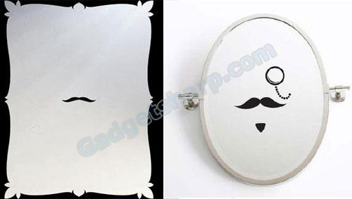 Mustache Self Portrait Mirror