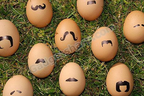 Mustaches Eggs