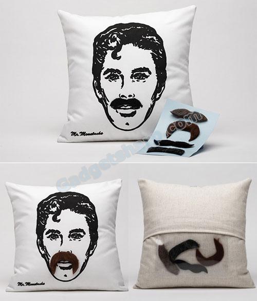 Interchangeable Mustache Pillow
