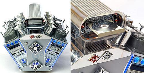 V8 Engine Computer Case