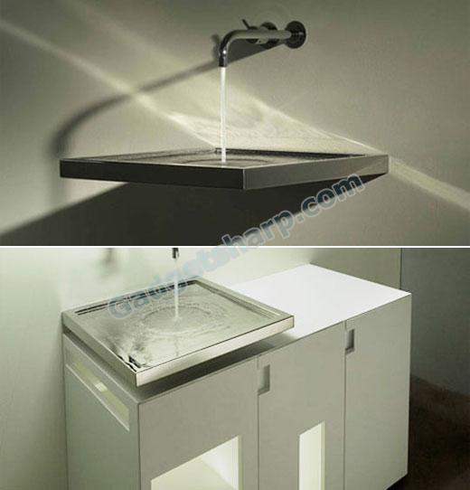 The Axolute Horizontal Integrated Siphon Eliminates the Drain Pipe