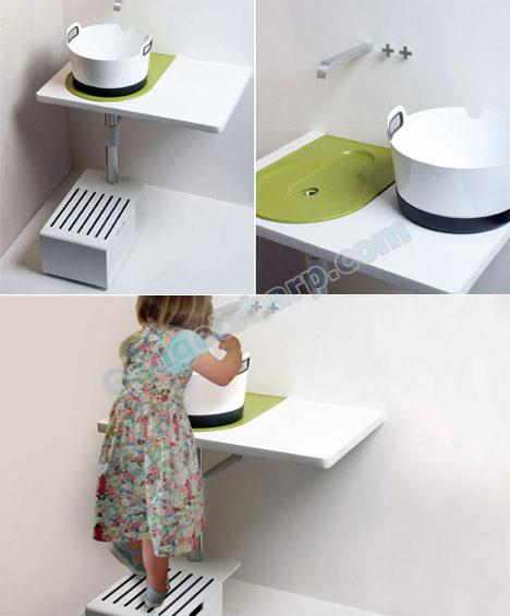 Take Away Sink Saves Water & Space