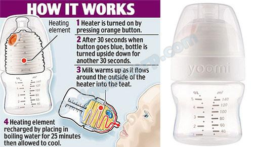 Self-heating Baby Bottle