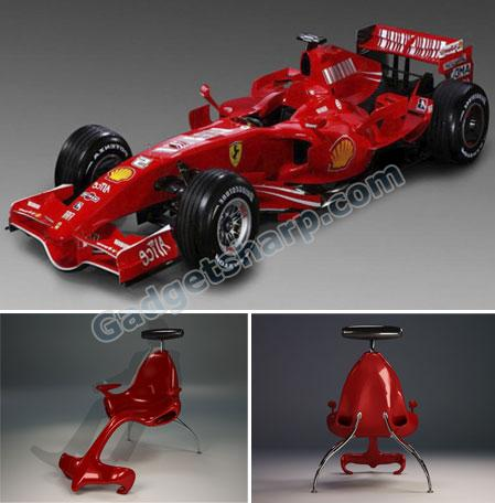 Formula 1 Car Inspired Chair