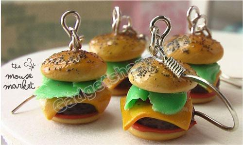 Gourmet Quarter Pounder with Cheese Earrings