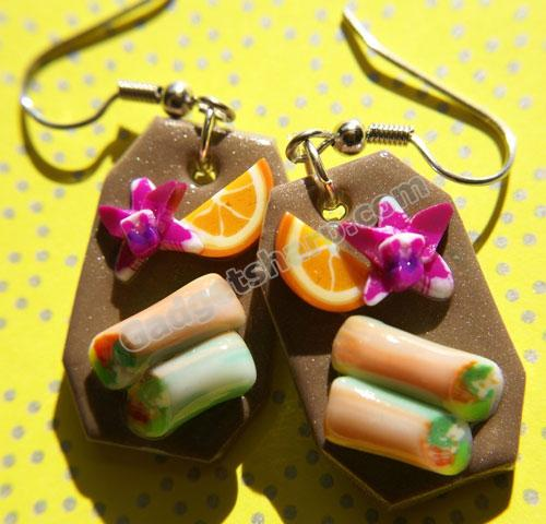 Spring Roll Platter Earrings