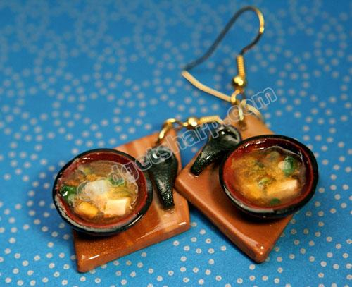 Hot Miso Soup Earrings