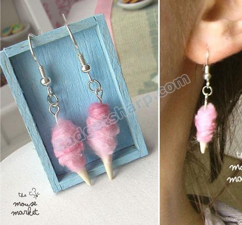 Pink Cotton Candy Earrings