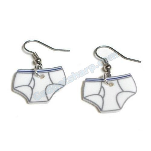 tighty whities earrings
