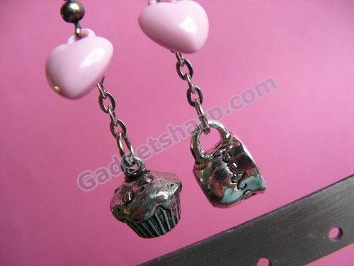 High Tea Earrings - Cupcake and Teacup Dangle Earrings