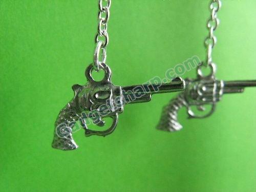 Gun on a Wire - Dangle Earrings