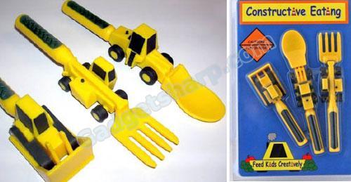 Constructive Eating 3 Piece Kids Utensil Set