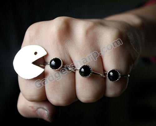 Pacman Ring Set for game lover
