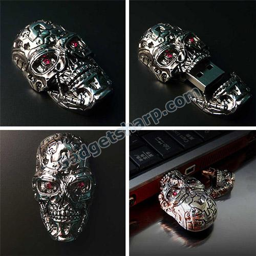 The Awesome Terminator USB Skull