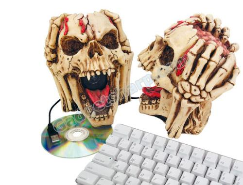Head Splitting Skull Computer Speakers