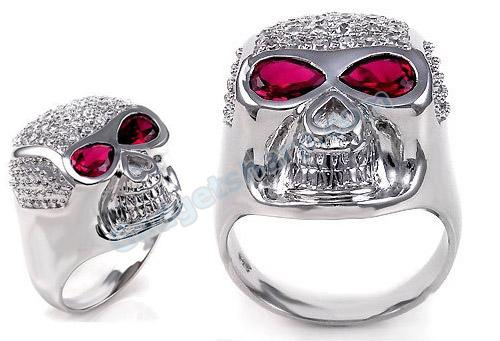 SKULL & RED Eyes Ring