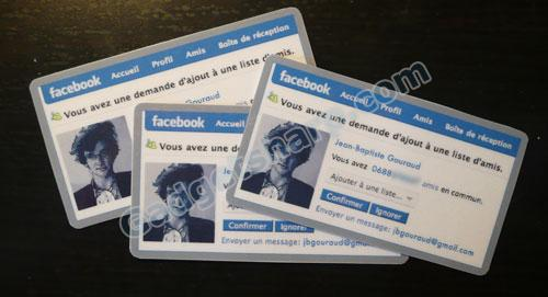 Facebook-Style Business Cards