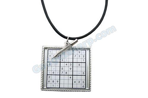 Sudoku Puzzle Pendant Necklace