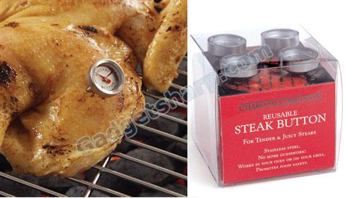 Reusable Steak & Poultry Button Thermometers